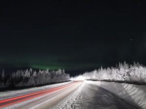 Nordlichter auf dem Weg nach Kiruna